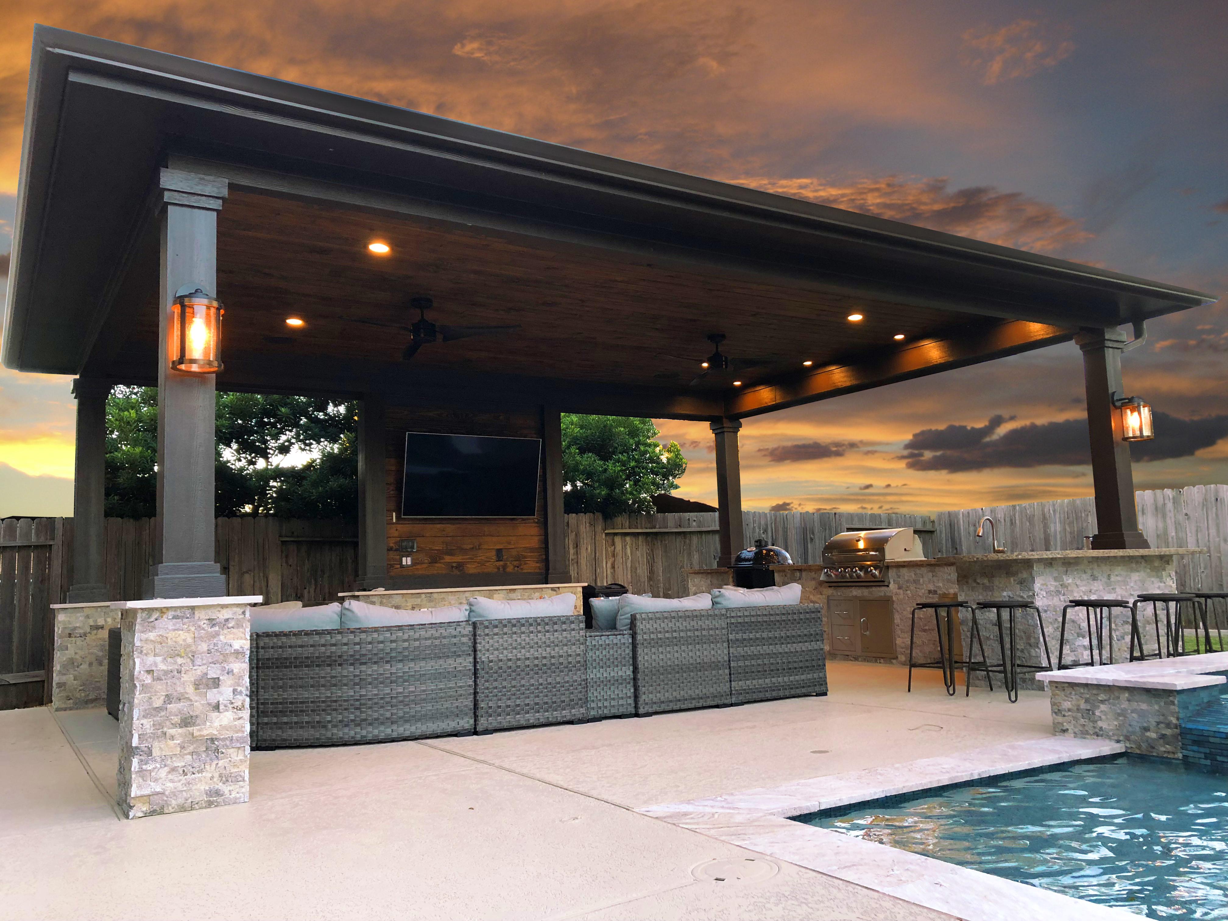 custom standalone patio cover